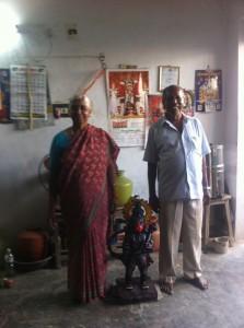 """Hanuman mit seinen """"Eltern"""""""