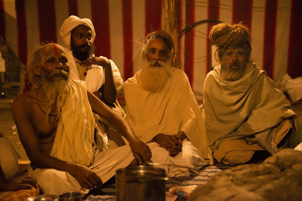 Indische Yogis auf der Kumbh Mela