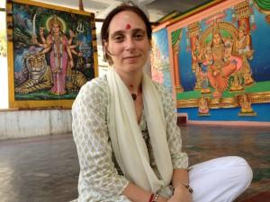 Bharati im Durgatempel